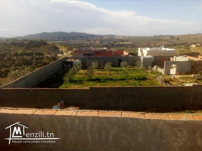 Deux étages maison dans la compagne 7 min de centre ville nabeul