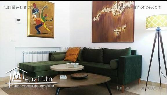 Appartement meublé à ain zaghouan nord alz3279