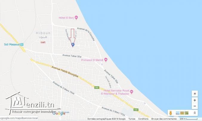 Lot de 892 M² Titré a la plage de Mahdia