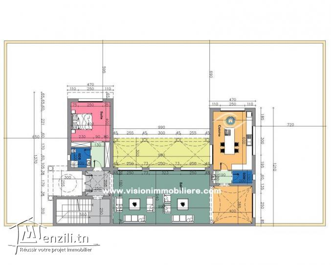 Vente Villa Lotus S+4 Hammamet-centre