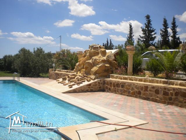Une villa aux Environs de Hammamet de 570 m² sur un terrain de 2500 m²