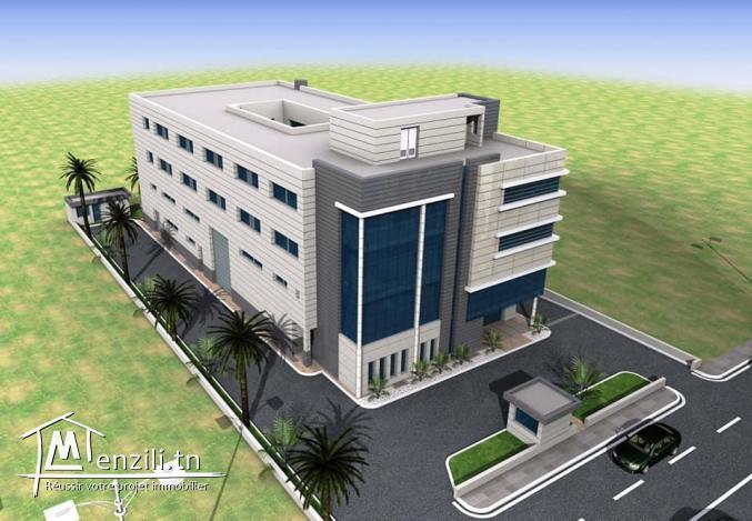 Offre location des étages et un dépôt à zone Industrielle kram