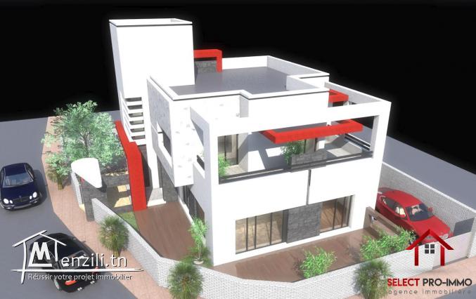 Villa inachevée de 379 m² à AFH Mrezgua – NV2049