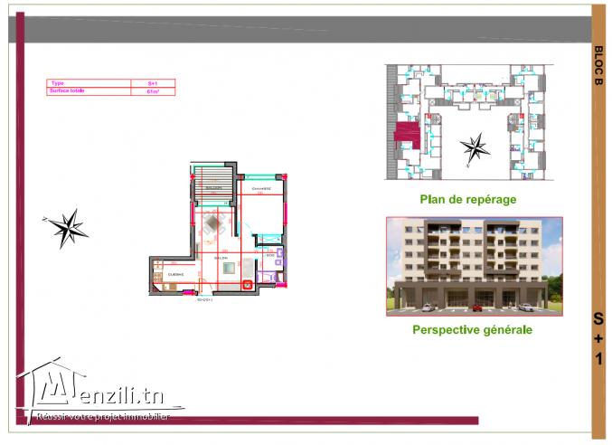 Appartements S+1 à AFH Mrezgua – NV1062