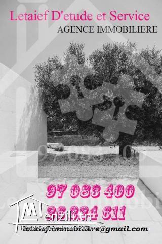 #VENTE: #Un_Terrain_d'#une_superfcie5000_mettre#à_kalaa_kbira