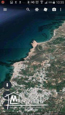 terrain à vendre prés de la mer à Sounine