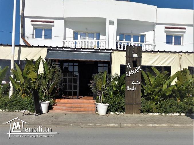 av un  fond de commerce une salon de thée dans la zone touristique hammamet