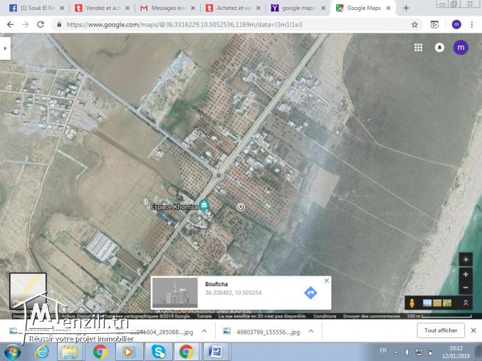 terrain de 600 m² à hammamet sud