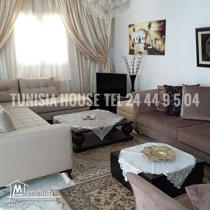 duplex S+3 richement meublé de 200 m² avec jardin