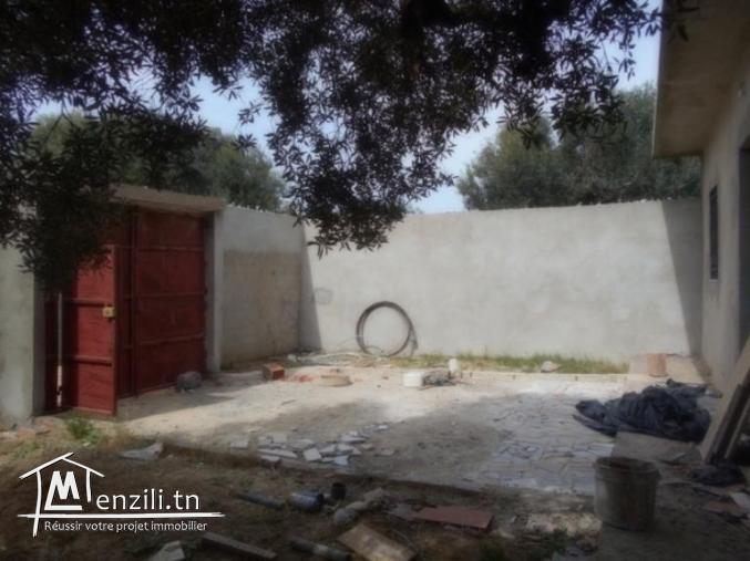 AV une maison avec jardin + garage  a hammamet sud  G