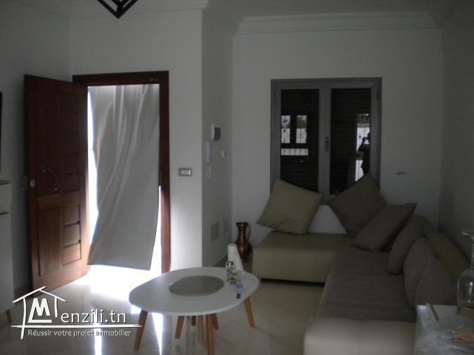 Une villa meublée de 250 m² sur un terrain de 500 m² à 1100 DT à Manaret Hammamet