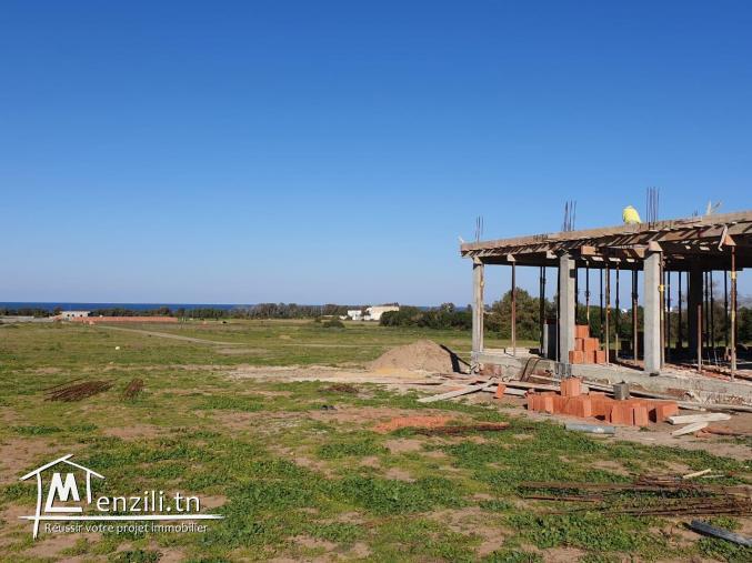 """un """"duplex"""" au coure de construction a vendre à kerkouane / kelibia"""
