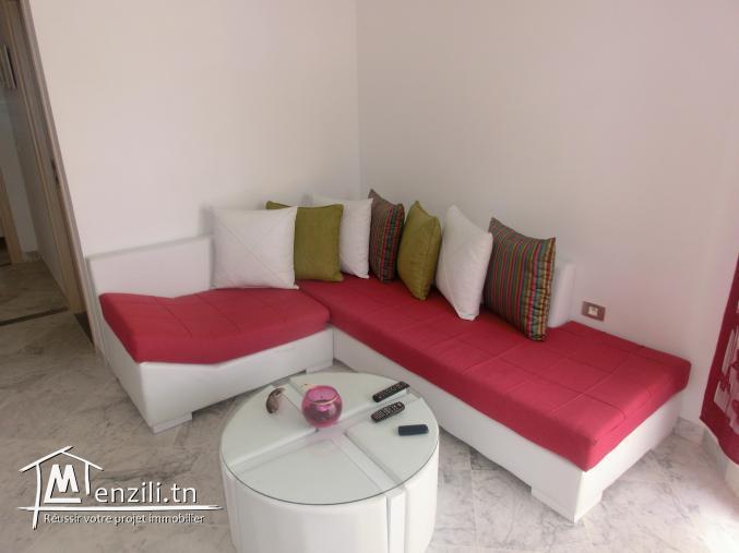 A louer pour les vacances  un joli appartement à Chott Mariem