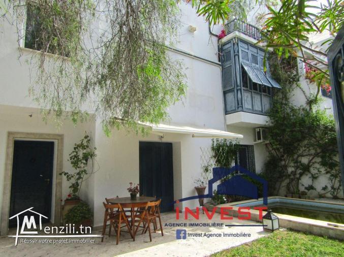 Villa S+2 avec piscine et jardin au Golden Tulip