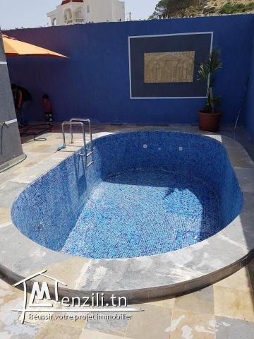 villa avec piscine s+3 à hammamet nord
