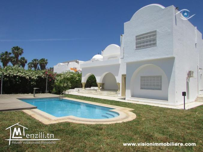 Location villa el jarra S+5 Hammamet-centre