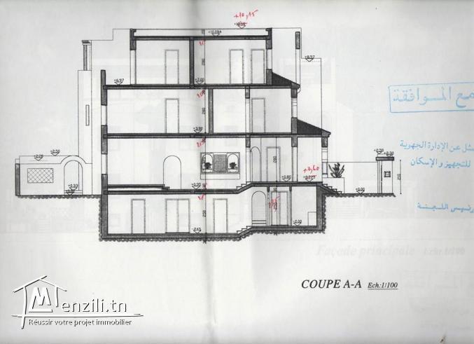 Particulier met en vente une villa de 604 M² a Ain zaghouan