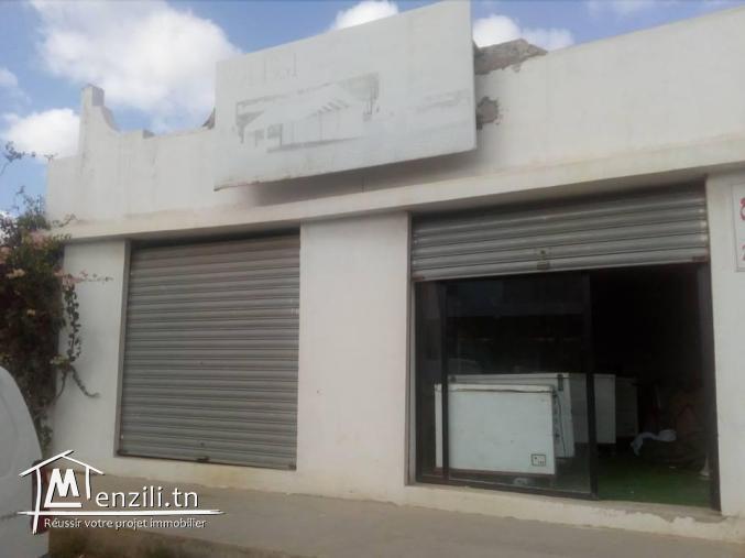 deux garages commercial a hammamet nord sur la route principale nabeul