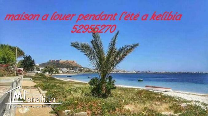 maison a louer pendant l'été a kelibia 50 dinar ellila f juin w 60 début juillet 52955270
