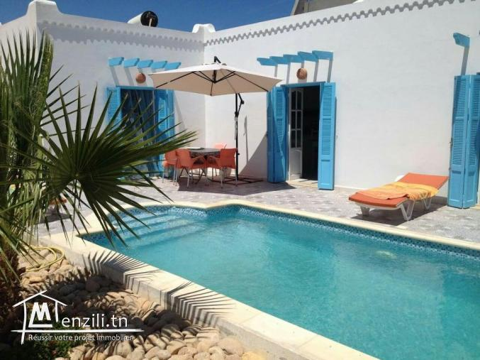 maison avec piscine a louer a Djerba