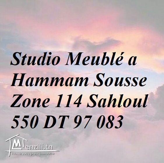 #LOCATION#STUDIO#Meublé_Hammam_Sousse#zon_114_sahloul