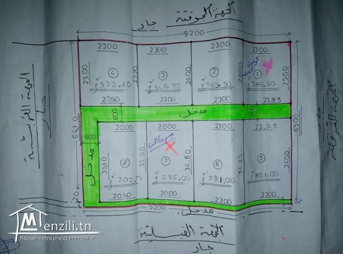 قطع ارض للبيع في عقارب-صفاقس Terrain à vendre Agareb-Sfax