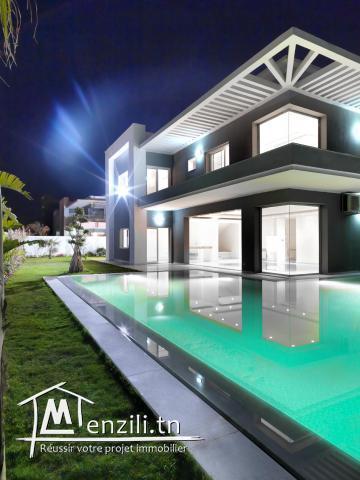 villa avec piscine vue mer