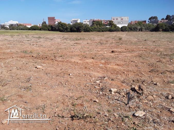 Terrain constructible avec 2 façades  à Kelibia ville