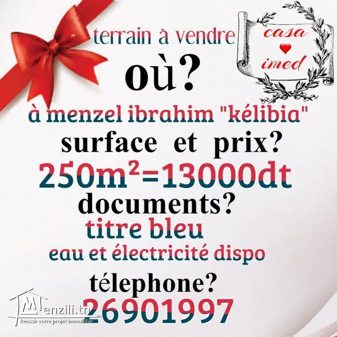 terrain à vendre à kélibia 13000dt******* 26901997