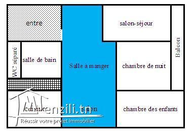 Appartement 2éme étage (Poudrière1 prés Hamadi Abid)