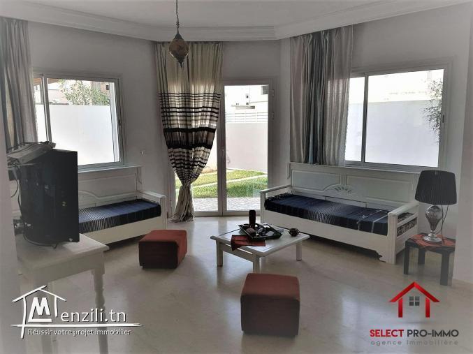 A louer RDC villa meublé à Cité el Wafa