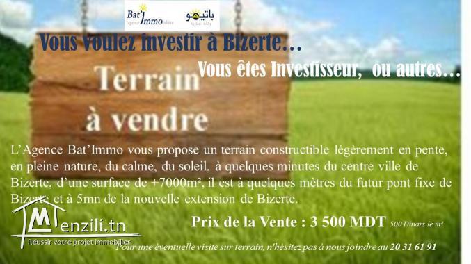 Vous voulez investir à Bizerte côté futur pont fixe