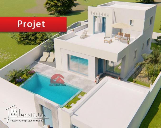 Vente terrain + construction à Djerba Zone URBAINE