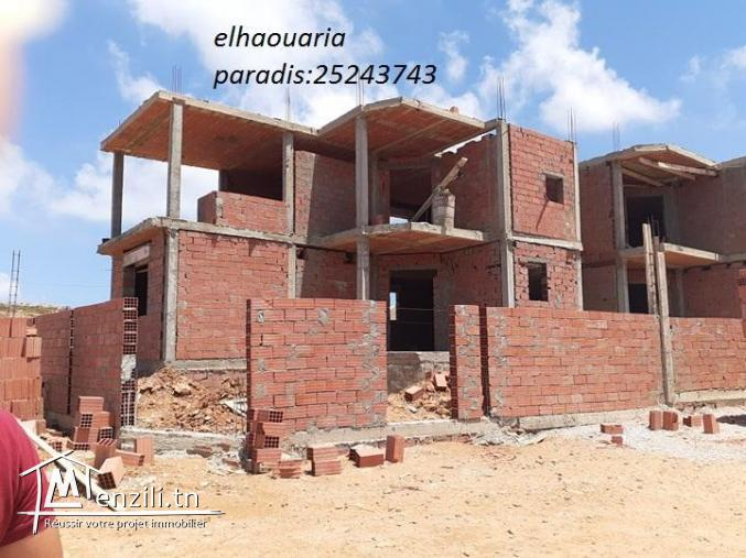 une villa de rêve s+5 de  style américain situé à la plage elhaouaria