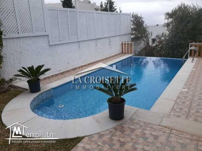 Villa avec jardin et piscine à Gammarth Ref MVL0105