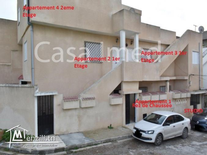 A vendre Immeuble 4 appart et 1 studio