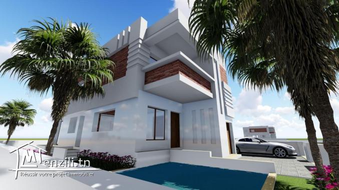 villa avec piscine au debut de construction