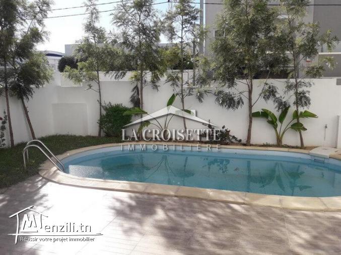 Duplex s+3 avec piscine à la Soukra  ZDL0043