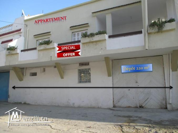 Grand appartement dans la zone de Salambo Karam de 180 mètres carrés