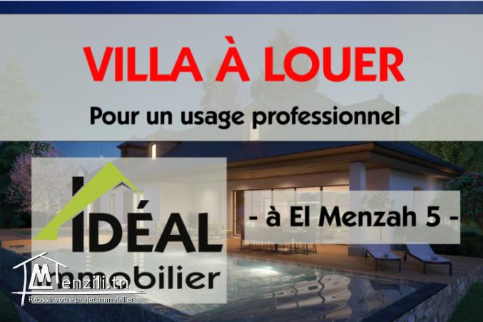 A louer villa à usage professionnel