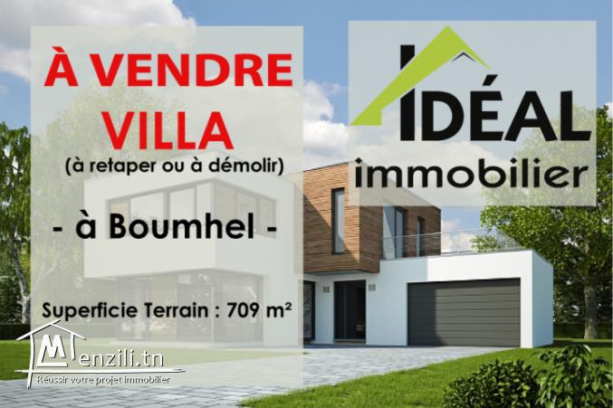 A vendre une villa à Boumhel