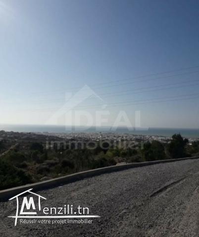 Terrain avec vue panoramique sur Hammamet