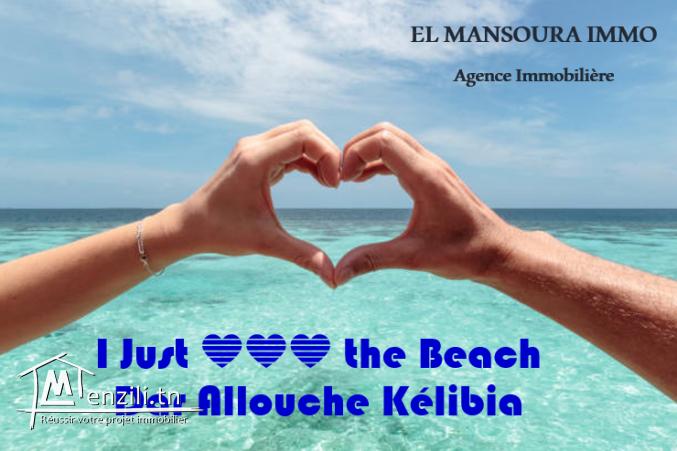 Un très beau terrain à partir de 150m² a plage dar allouche kélibia.