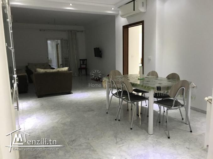 appartement richement meublé de type s+2 de superficie 125m2