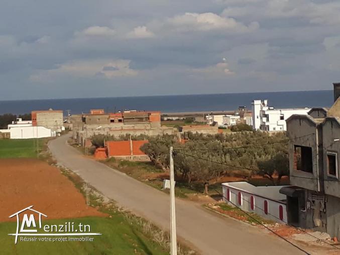 Terrain vue sur mer à Dar allouch