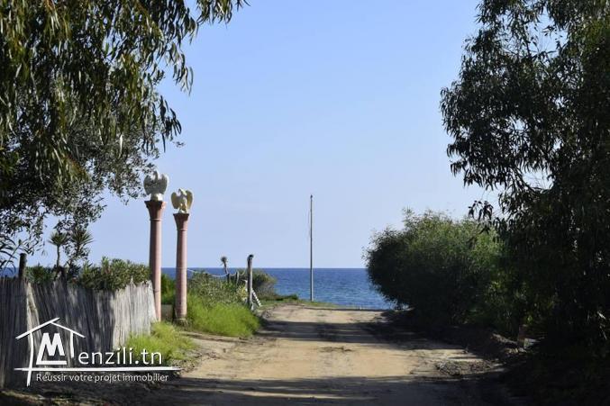 terrain vue mer à kerkouane de 275 m2