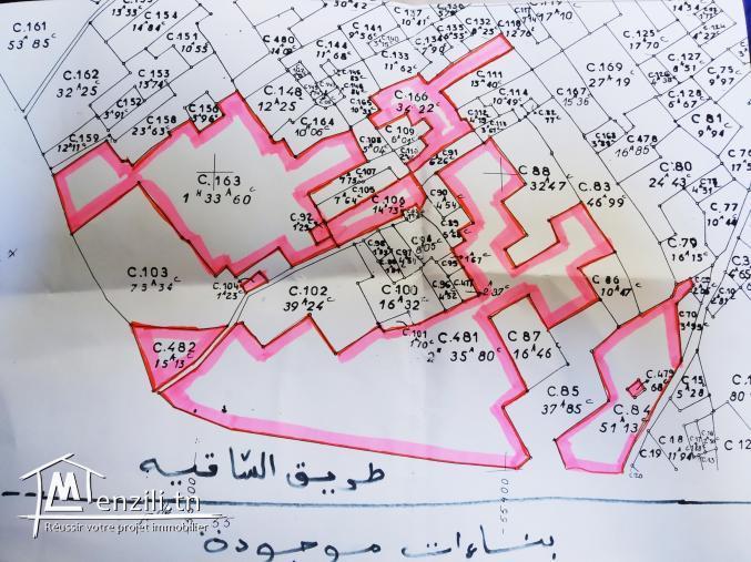 أرض للبيع في الكنايس معتمدية مساكن على طريق الساقية