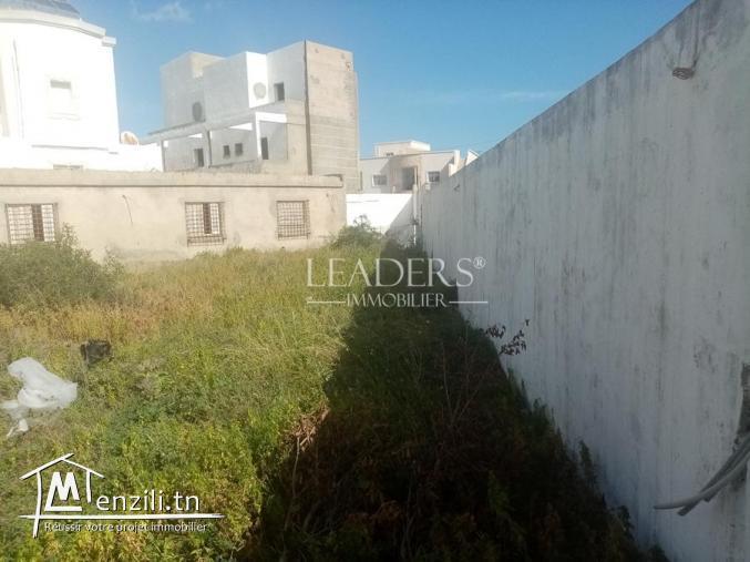 un superbe terrain clôturé sur 2 façades à Borj Cedria zone touristique