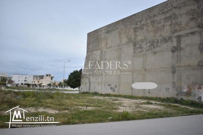 Terrain commercial sur deux façades a Borj Cedria