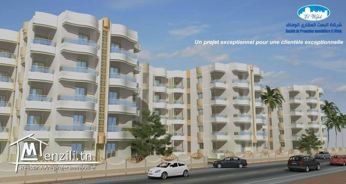 Des S+1 / S+2 / S+3 neuf a vendre a HAMMAMET NORD zone le SULTAN